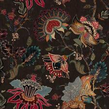 Paloma Home Vintage Botanicals Intricate Floral Trail Wallpaper - Black 921602