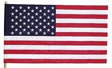 "American United States Flag 29"" x 50"" Sleeved Pole Hem Print Polycotton USA Made"