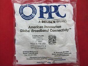 LOT OF 200 PPC EX6XLPLUS RG6 SIGNAL TIGHT COMPRESSION CONNECTORS BELDEN NEW!!!