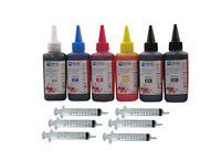 6 x 100ml refill ink bottle inc Grey for Canon  pgi550 cli551  pgi525 cli526