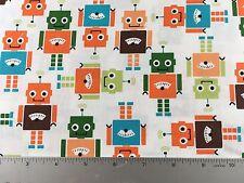 Funbots Robots -  Robert Kaufman  AAK-13961 269 Park- Cotton Fabric