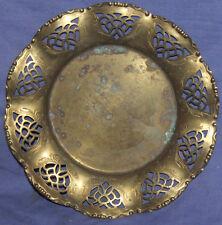 Vintage hand made brass ornate bowl