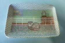 Vintage Melamine R2S Jewelry Tray Italy Momma Cat