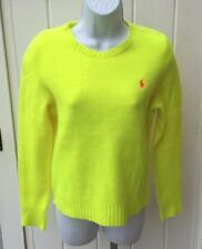 Polo Ralph Lauren womens optic yellow cashmere wool sweater medium $198 nwt
