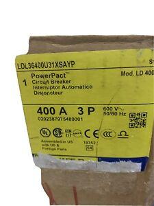 Square D LDL36400U31XSAYP 400A 600V 3 pole Power Pact Circuit Breaker