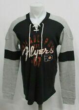 Philadelphia Flyers G-III Black/Gray Long Sleeve Distressed Print Tee NHL S-2XL