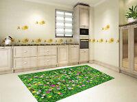 3D Gras Schöne Blumen 7 Küchen Matte Boden Wand Druck Wand AJ WALLPAPER DE Carly