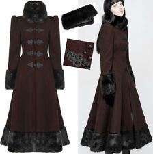 Manteau gothique lolita russe victorien broderie fourrure corset hiver PunkRave