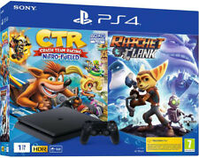 SONY PLAYSTATION 4 PS4 1TB SLIM HDR + Crash Team Racing CTR + Ratchet & Clank