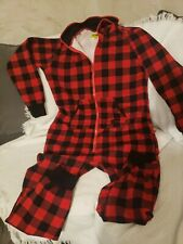 Tipsy Elves One Piece Zip Up Pajamas Unisex. Size L