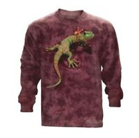 The Mountain 100% Cotton Adult Long Sleeve T-Shirt - Peace out Gecko Size 3X NWT