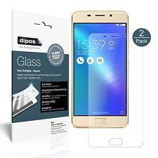 2x Asus Zenfone 3S Max Schutzfolie matt - Folie Glasfolie 9H dipos Glass
