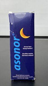Asonor Snoring Nasal Spray 30ml - Effective Snore Stopper Drops for Better Sleep