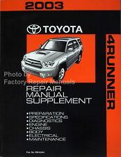 2003 Toyota 4Runner Factory Service Manual V6 Supplement - Original Shop Repair
