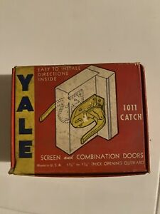Vintage NOS Yale 1011 Catch Screen Door Latch Handle Door Knob