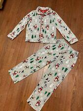 Carters Pajamas 8 Boys Christmas 2 Piece Set Fleece Pjs Sleepwear