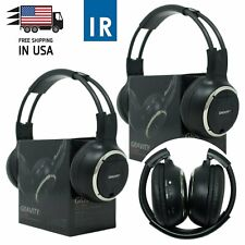 2PCS Infrared Wireless Single Channel For Car DVD MP3 IR Headphone Headset 50WH