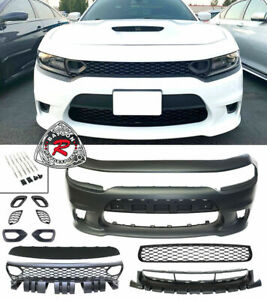SRT-8 Hellcat Style Front Bumper w/ SP Air Duct Grille Fits 15-21 Dodge Charger
