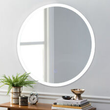 "24"" LED Mirror Illuminated Light Wall Mount Bathroom Round Make Up Touch Button"