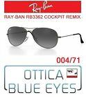Occhiale da Sole RAYBAN RB3362 004/71 COCKPIT REMIX Sunglasses Ray Ban GUNMETAL