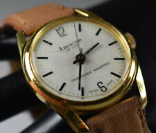 Vintage Swiss Men's Lucerne Mechanical Wind Watch Unbreakable Mainspring