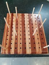 BLOCKING BOARD - SOLID BUTCHERS BLOCK WOOD - FOR KNITTING & CROCHET PROJECTS