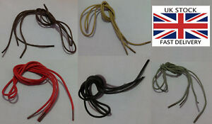 Waxed Round Cotton Shoe/boot laces 2.5mm width, 75cm Length-UK STOCK