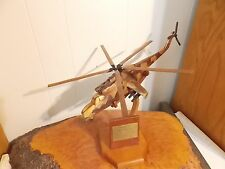 MiL 24 Hind D attach helicopter by the MiL Design Bureau hand carved replica