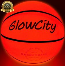 Light Up Basketball Use 2 High Bright Led Night Weight Play Game Fun Glow Bright