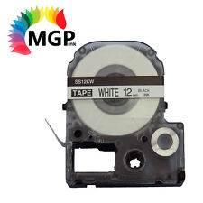 1X LC-4WBN Standard LC Tape 12mm Black on White 8m for Epson LW-300 LW-400