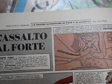 corriere dei piccoli anni '60 L'assalto al forte disegni di  HUGO PRATT inedito!