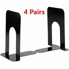 Heavy Duty Metal Bookends Book Ends Home School Office Stationery 4 Pairs Black
