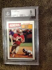 1987 Topps # 115 Jerry Rice 49ers Beckett Graded Certified Mint 9