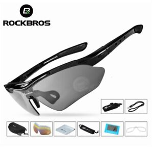 ROCKBROS Polarized Sports Cycling UV400 Sunglasses Outdoor Glasses 5 lenses