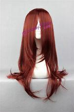 Naruto Uzumaki Karin cosplay wig D.Gray-man Cross Maria cosplay wig dark red wig