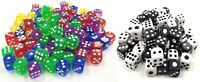 Large Dice Game Color or Black & white 16 MM / 14 MM Opaque Six Sided Board Game