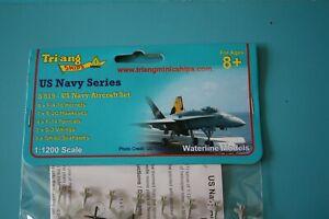 US Navy Aircraft kit Nimitz quarter wing. Plastic 1200/1250 scale Triang Mini