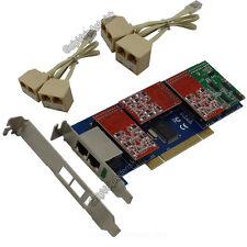 TDM800P 8FXO / FXS (6FXO+2FXS) Asterisk card Low profile PCI card elastix ip pbx
