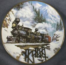 Winter Crossing Collector Plate Winter Rails Ted Xaras Trains Americana