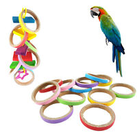 4xBird Parrot Toy Hanging Swing Cages Rope Pet Chew Rings Parakeet Cockatiel Pop