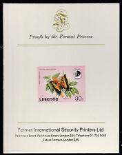 Lesotho (595) 1984 Butterflies 30s imperf on Format International PROOF  CARD