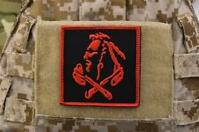 Nswdg Red Squadron Patch The Tribe Devgru St6 Red Team - Black w Red Border