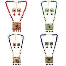 Jwellmart Indian Ethnic Bridal Jaipur Multigem Meenakari Necklace Jewelry Set