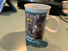 "Dunoon Fine Stoneware ""Merry Christmas"" Mug - Victorian Prints - Made In England"