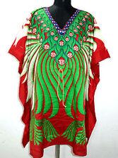 Womens Beach Wear Cover Up Kaftan Short Mini Dress Tunic Plus Size Caftan