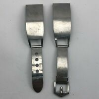 Vintage Gemex Mens Silver Stainless Steel Small Watch Band