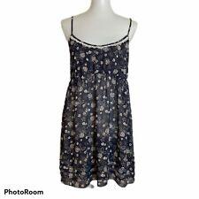 Victoria's Secret Angels Womens Large Babydoll Nightie Gown Semi-Sheer Floral