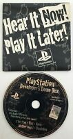 Playstation 1 Developers Demo Disc Hear It Now Play It Later;  RARE. Good Cond.