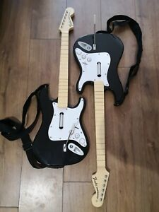 Rock Band PS3 Fender Stratocaster Guitar x 2 - NO DONGLE - Untested.
