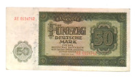 1948 Germany Communist DDR 50 Mark Banknote